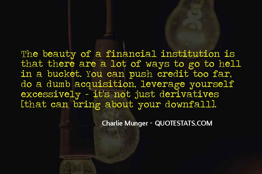 Quotes About Financial Leverage #564535