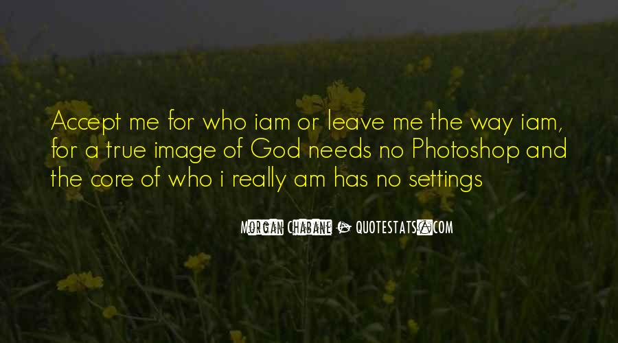 I Am The Way I Am Quotes #21398