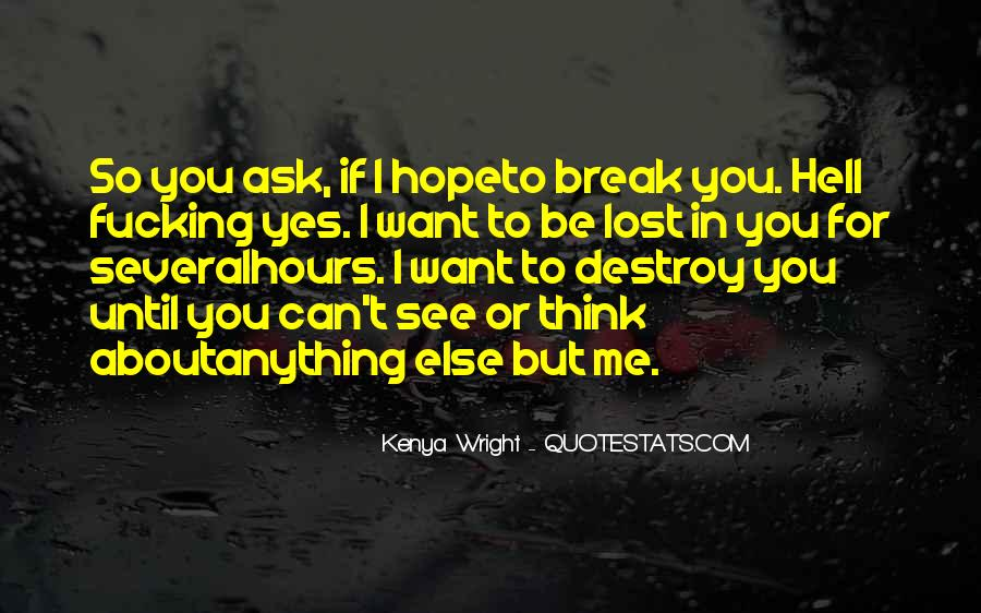 I Can Destroy You Quotes #1177067
