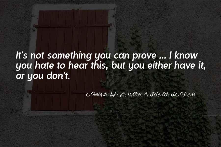 I Can Hear Quotes #28110