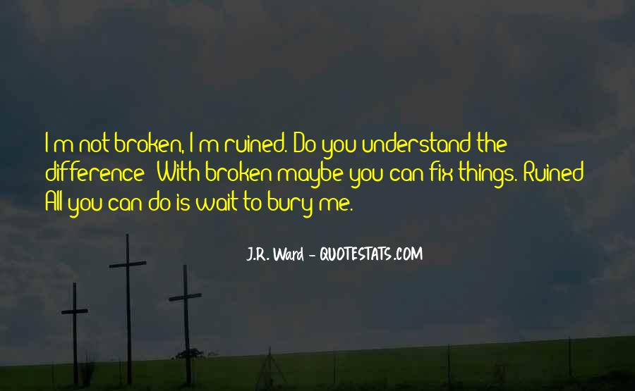 I Can't Fix You Quotes #76834