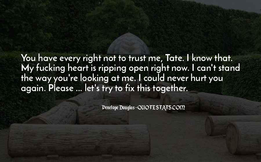 I Could Never Trust You Quotes #847047