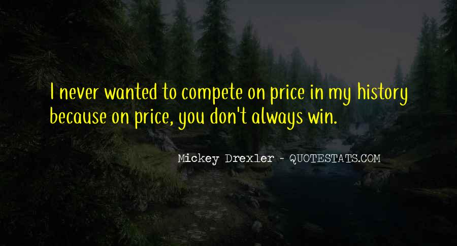 I Don Compete Quotes #1130147