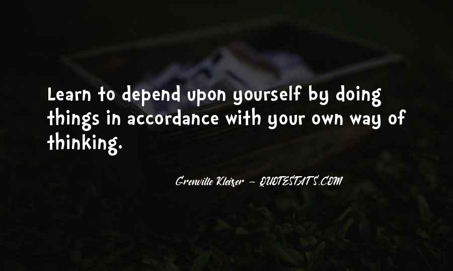 I Don't Depend On You Quotes #28059