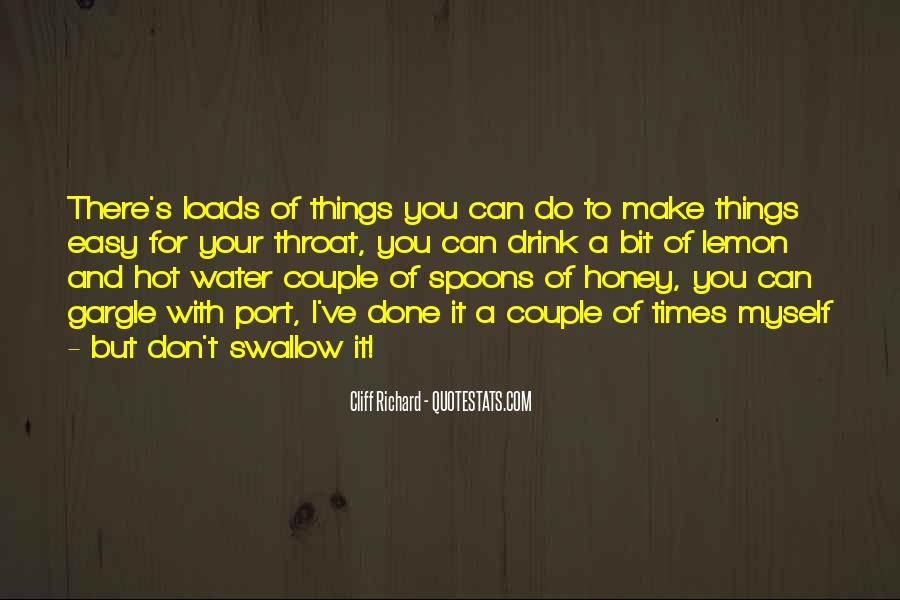 I Don't Drink Water Quotes #949986