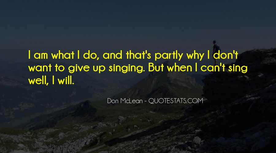 I Don't Give Up Quotes #158541