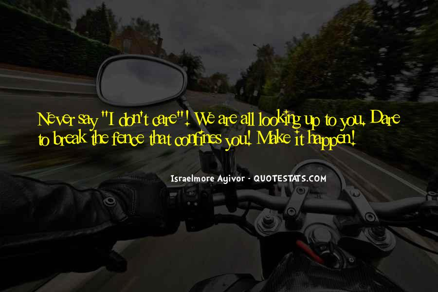 I Don't Give Up Quotes #212207