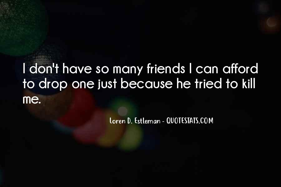 I Don't Have Many Friends Quotes #104031