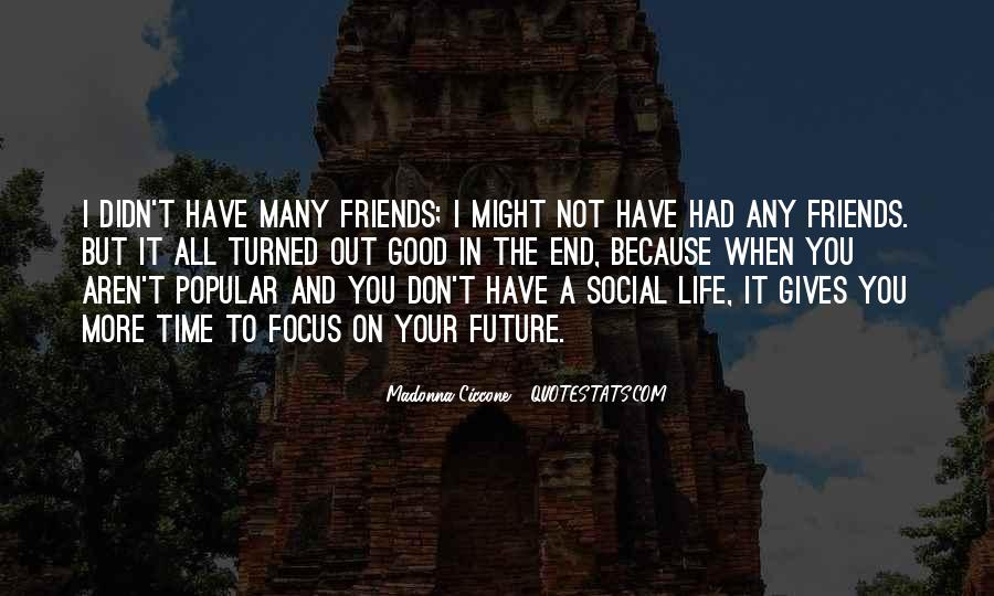 I Don't Have Many Friends Quotes #1375867