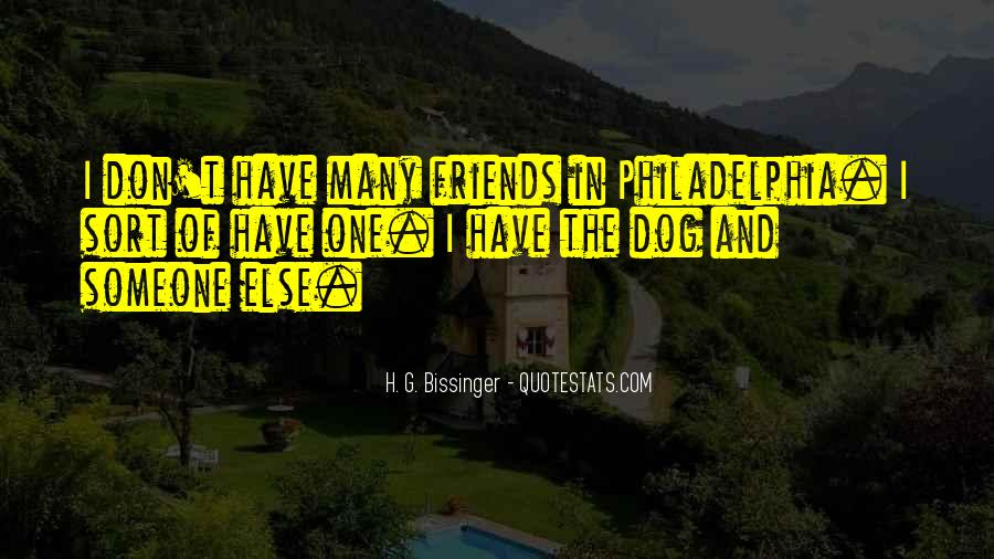 I Don't Have Many Friends Quotes #355358