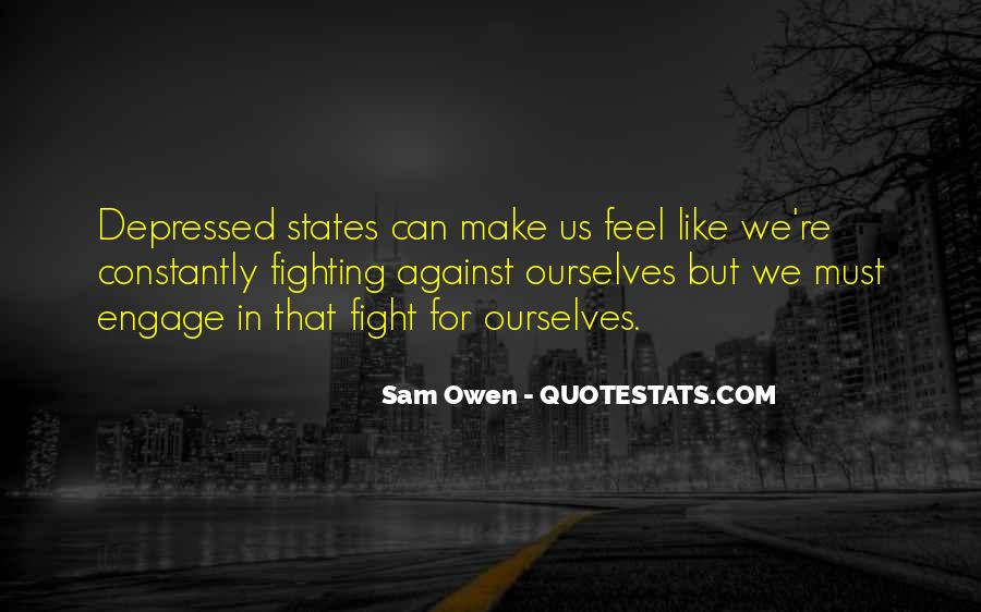 Quotes About Fighting Against Depression #436012