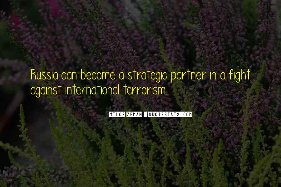 Quotes About Fight Against Terrorism #1082968