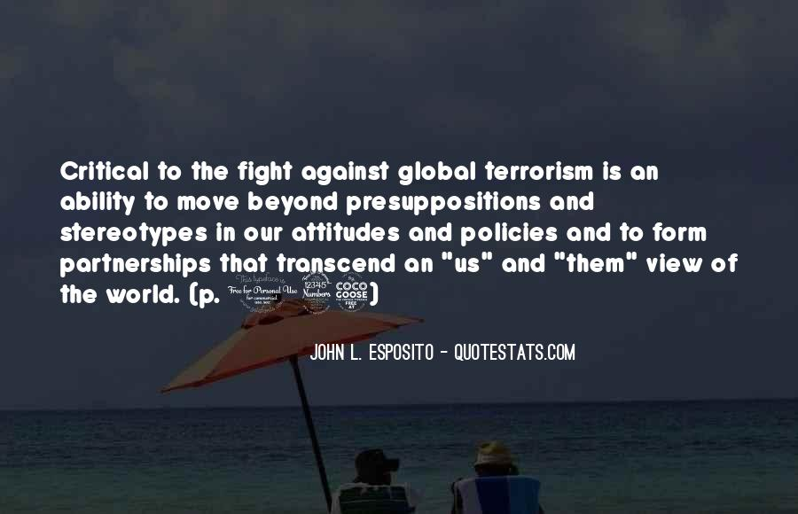 Quotes About Fight Against Terrorism #1228847