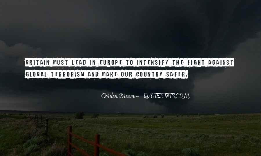 Quotes About Fight Against Terrorism #1608509