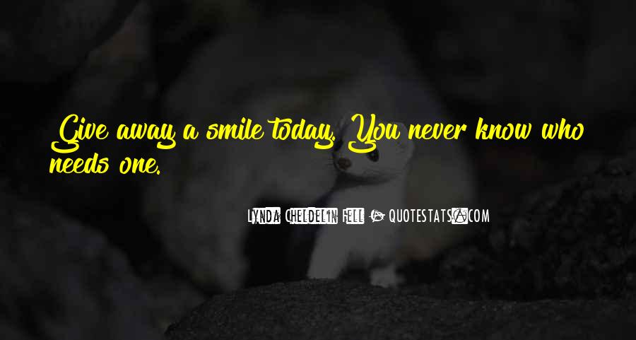 I Fell For His Smile Quotes #1506810