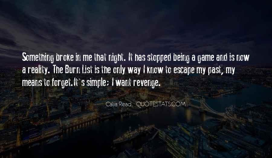 I Forget My Past Quotes #271042
