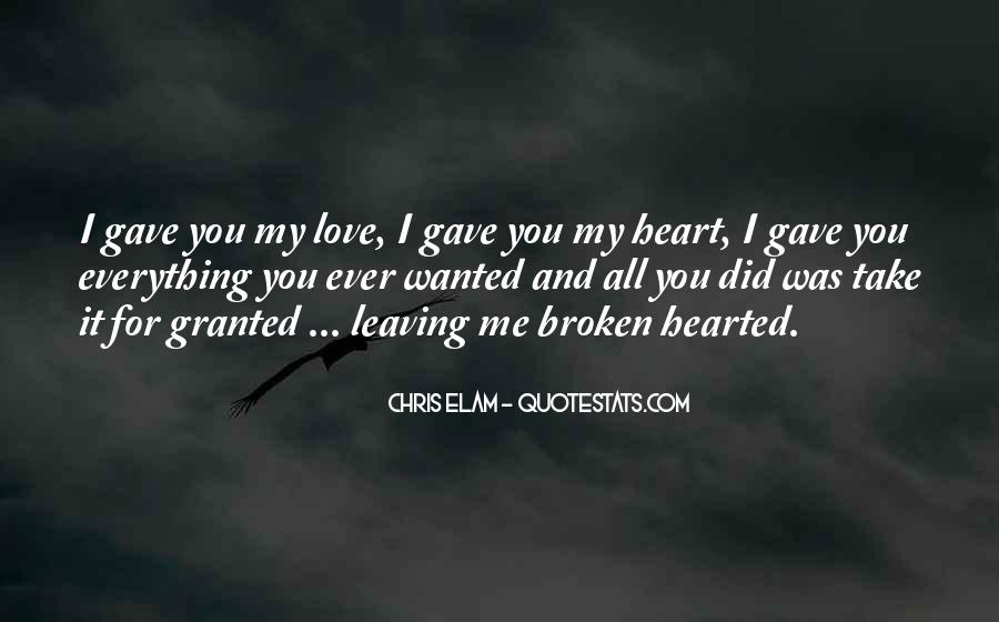 I Gave You All My Love Quotes #411612