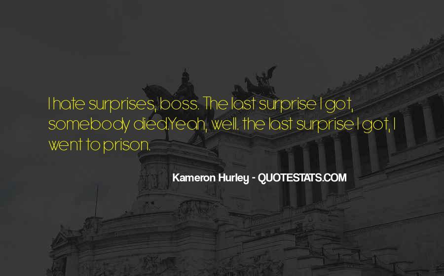 I Hate Surprises Quotes #1646953