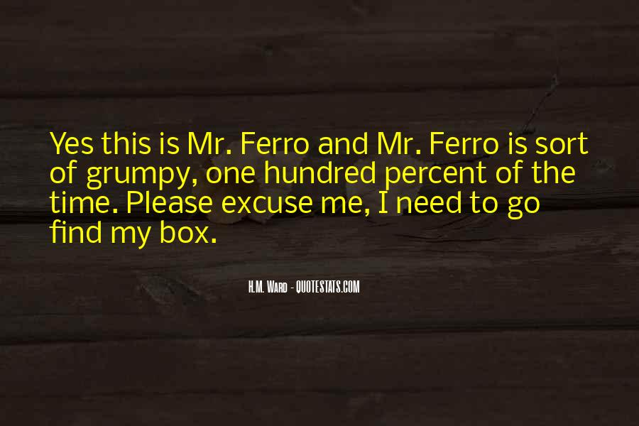 Quotes About Ferro #725865