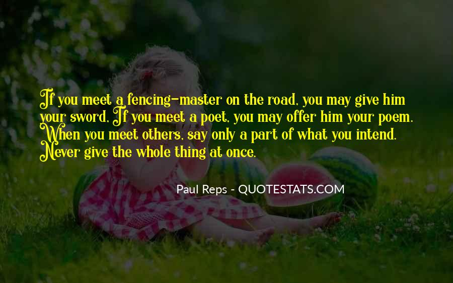 Quotes About Fencing #1595234