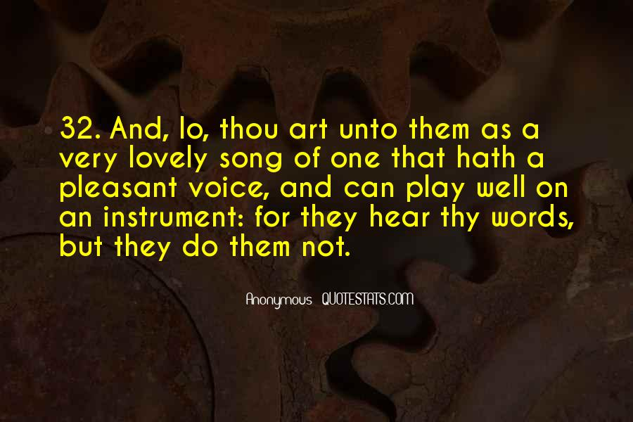 I Hear Your Voice Best Quotes #26841