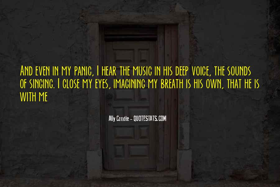 I Hear Your Voice Best Quotes #31693