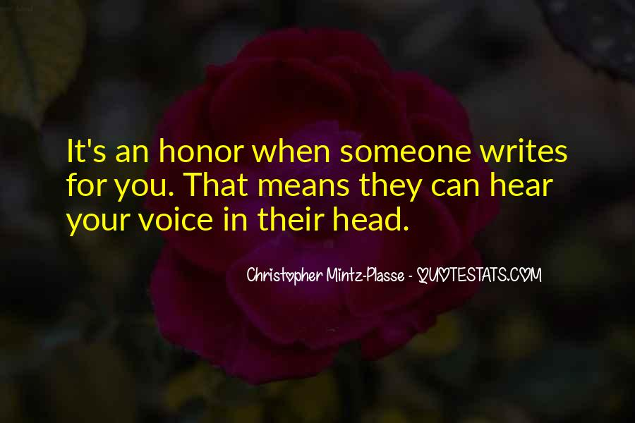 I Hear Your Voice Best Quotes #4397