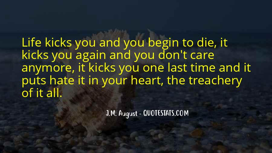 I Just Don't Care Anymore Quotes #161789