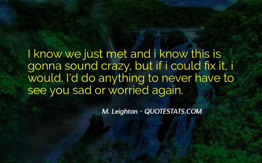I Just Met You But Quotes #560949