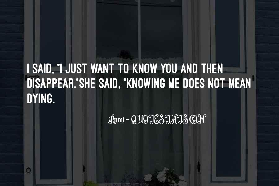 I Just Want To Disappear Quotes #264923
