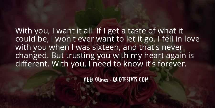 I Just Want You Forever Quotes #9296