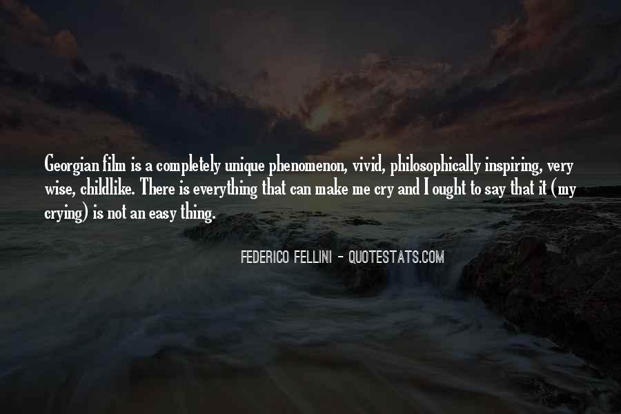Quotes About Fellini Film #109748