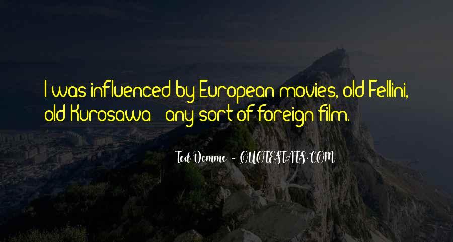 Quotes About Fellini Film #1122527