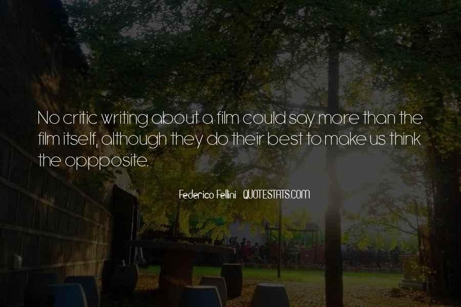 Quotes About Fellini Film #1652242