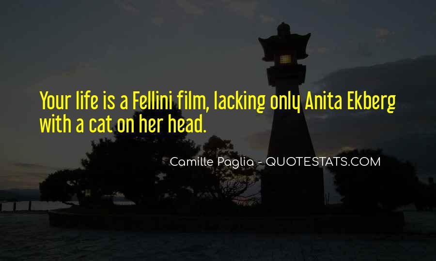 Quotes About Fellini Film #342437