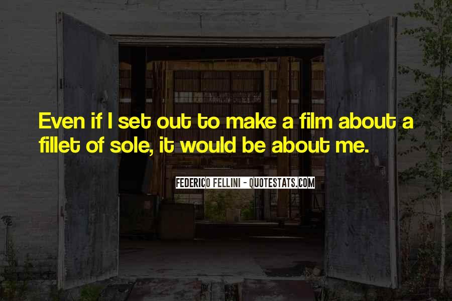Quotes About Fellini Film #382889