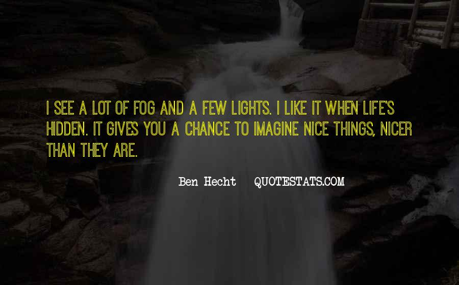 I Like Nice Things Quotes #122376