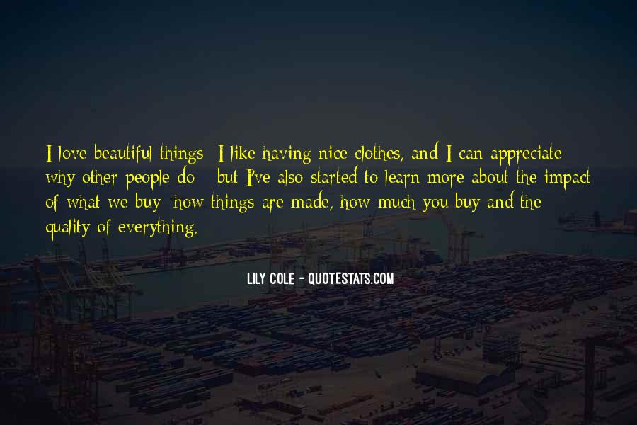 I Like Nice Things Quotes #1449546