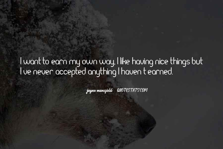 I Like Nice Things Quotes #322839
