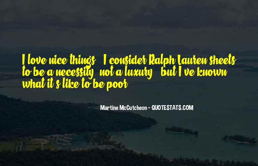 I Like Nice Things Quotes #576008