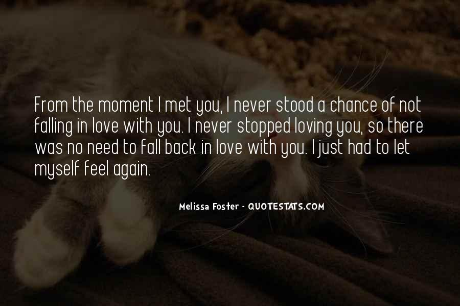 I Met My Love Again Quotes #923288