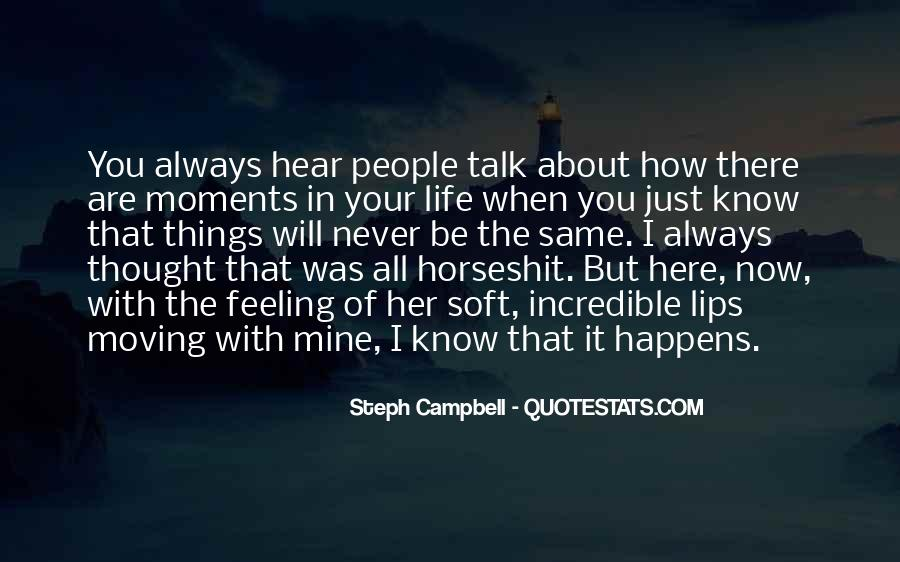 I Never Thought That Quotes #153307