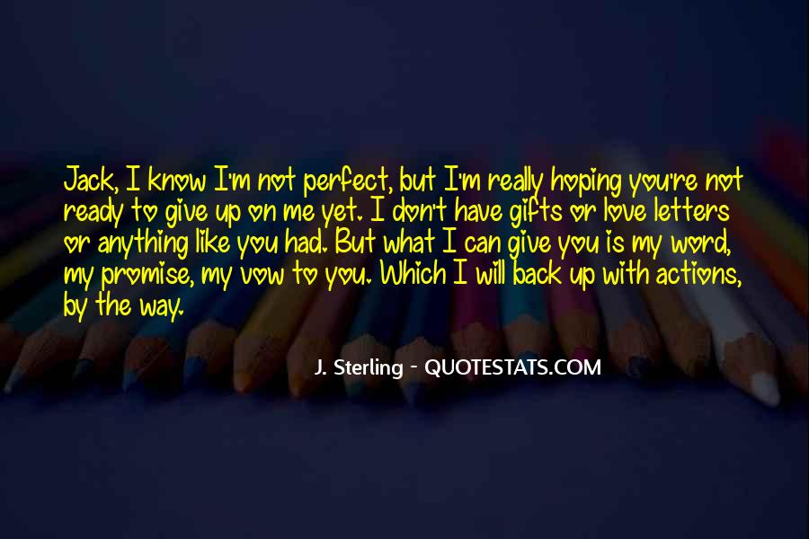 I Promise Not To Let You Go Quotes #14429