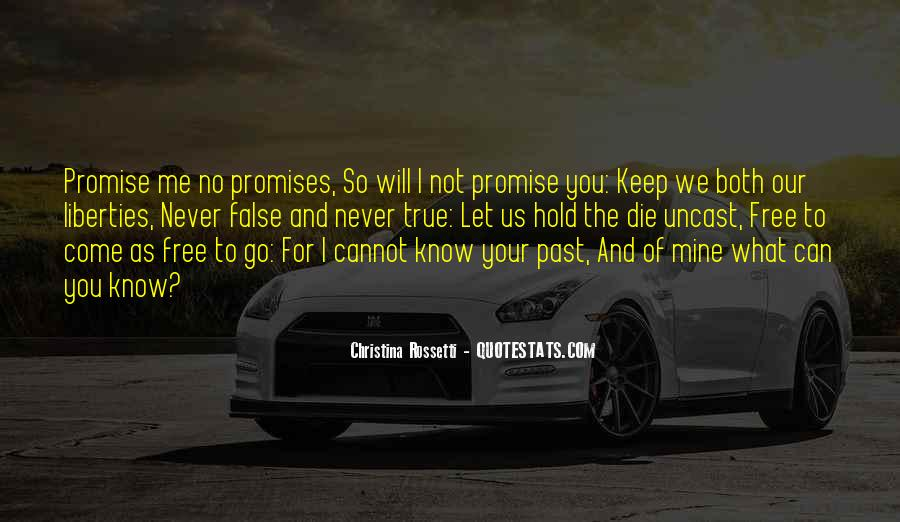 I Promise Not To Let You Go Quotes #9111