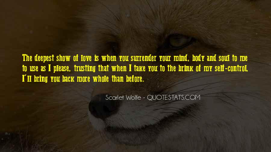 I Surrender Love Quotes #1269018