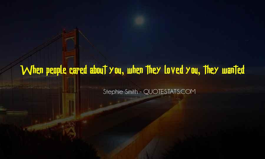 I Thought U Cared Quotes #768343