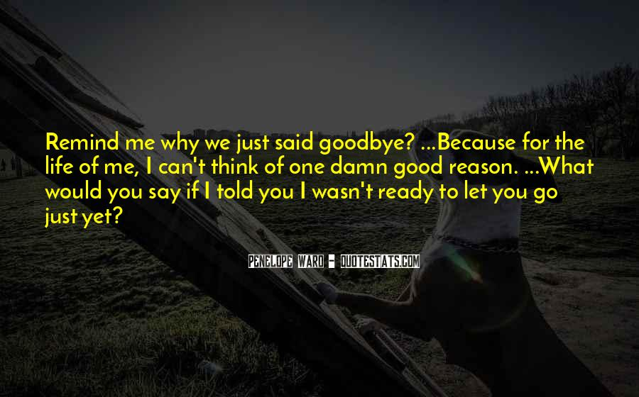 I Wasn't Ready To Say Goodbye Quotes #970769