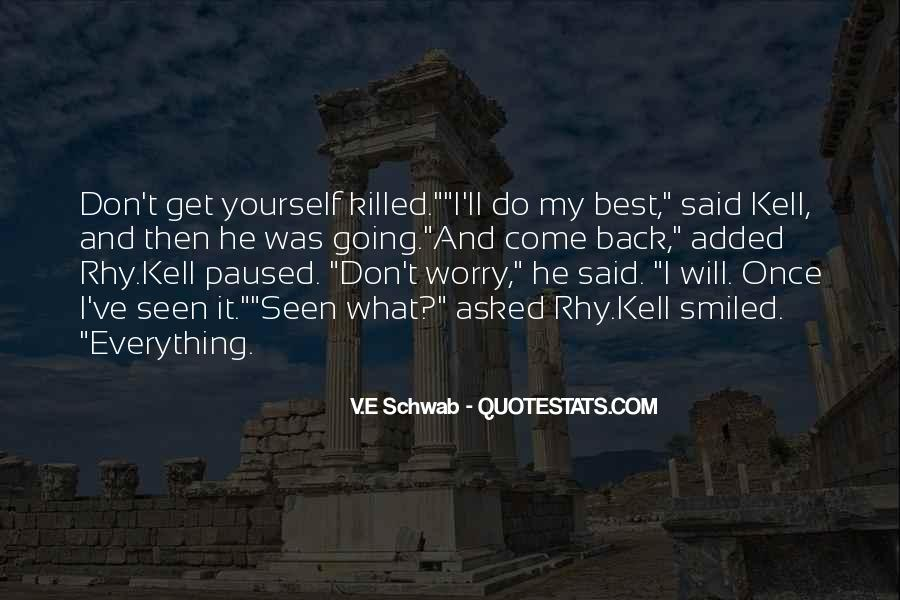 I Will Back Quotes #145083