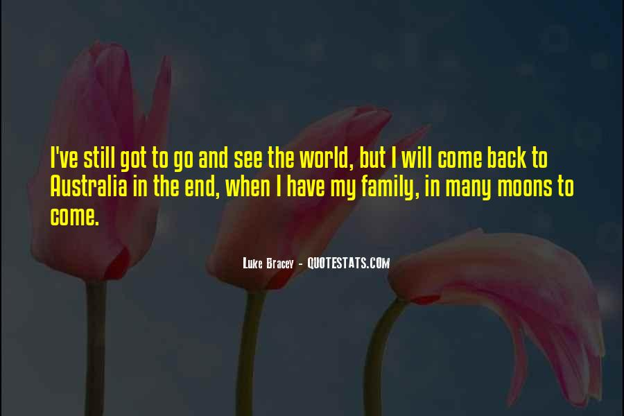 I Will Back Quotes #155846