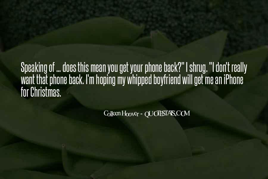 I Will Back Quotes #29601